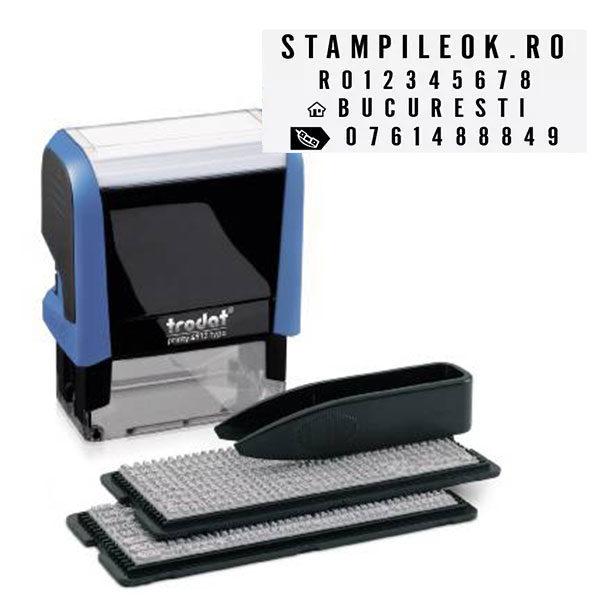 Stampila DIY Set de litere Trodat Printy 4912 Typo