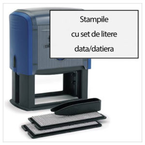 Stampile cu Set de Litere Data/Datiera