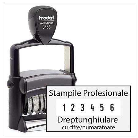 Stampile Profesionale Dreptunghiulare cu Cifre / Numaratoare