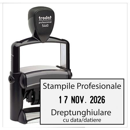 Stampile Profesionale Dreptunghiulare cu Data / Datiera