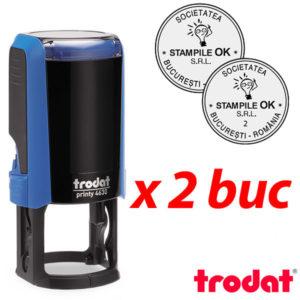 Stampile Pachet Trodat 4630 2buc Diametru 30 mm