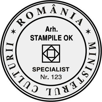 Stampila Arhitect