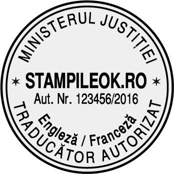 Stampila Traducator Autorizat