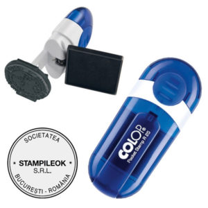 Stampila Firma Colop Pocket R25 Diametru 25 mm