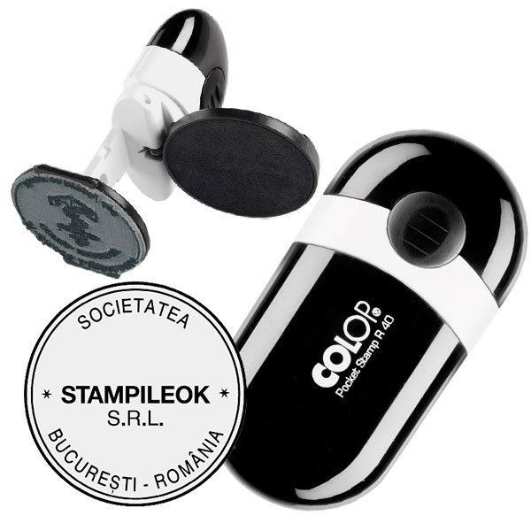 Stampila Firma Colop Pocket R40 Diametru 40 mm