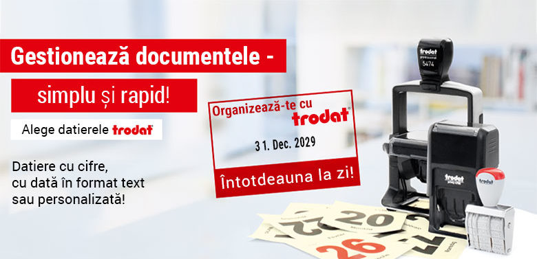 Stampile Datiere Trodat - Gestioneaza documentele simplu si rapid!