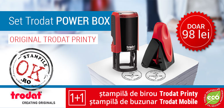Set Stampile Trodat Power Box Oferta